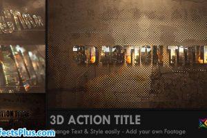 پروژه افتر افکت اینترو متن اکشن سه بعدی – 3D Action Title Opener
