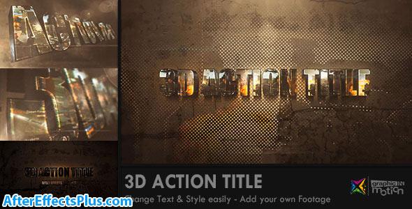 پروژه افتر افکت اینترو متن اکشن سه بعدی - 3D Action Title Opener