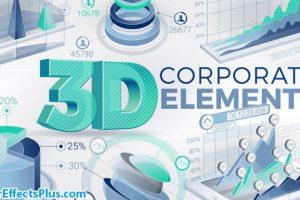 پروژه افتر افکت ابزار سه بعدی اینفوگرافیک شرکتی و بازاریابی – 3D Corporate Elements