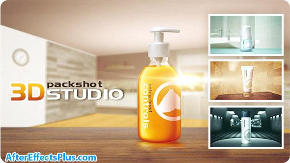 پروژه افتر افکت پکیج تبلیغات محصولات بهداشتی و تجاری - 3D Packshot Studio