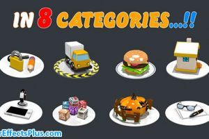 پروژه افتر افکت پکیج حرفه ای آیکون انیمیشنی – Animated Icons Professional Pack