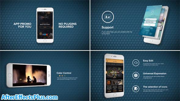 پروژه افتر افکت تیزر تبلیغاتی اپلیکیشن موبایل آیفون - App Promo