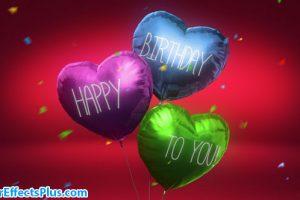 پروژه افتر افکت جشن تولد با قلب بادکنکی و بالونی – Balloon Hearts