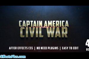 پروژه افتر افکت تریلر فیلم سینمایی جنگی – Civil War Cinematic Trailer