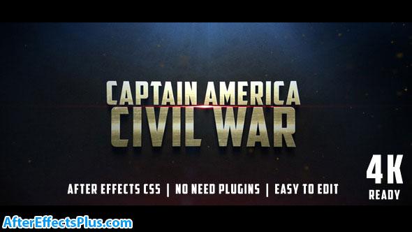 پروژه افتر افکت تریلر فیلم سینمایی جنگی - Civil War Cinematic Trailer