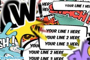 پروژه افتر افکت حباب متن کمیک – Comics Bubbles Speech Kit