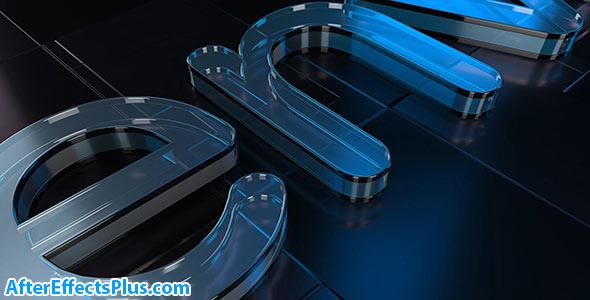 پروژه افتر افکت نمایش لوگو شیشه ای سه بعدی - Cool Glass Logo