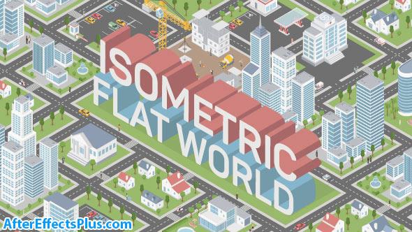پروژه افتر افکت ساخت نقشه ایزومتریک شهر - Isometric Map Builder