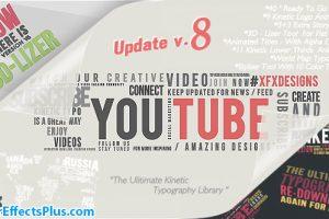 پروژه افتر افکت پکیج تایپوگرافی – Kinetic Typography Pack
