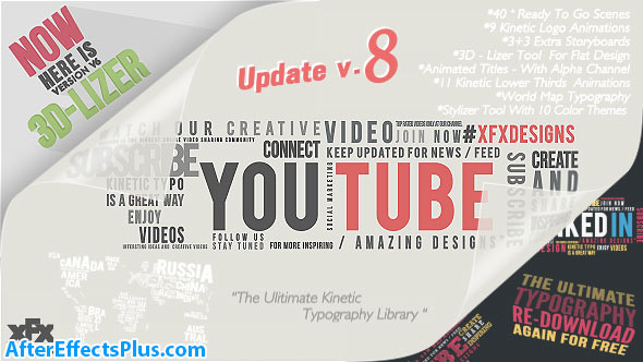 پروژه افتر افکت پکیج تایپوگرافی - Kinetic Typography Pack