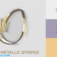 پروژه افتر افکت نمایش لوگو با نوار های فلزی – Minimal Metallic Stripes Reveals