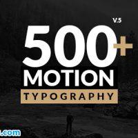 پروژه افتر افکت متن تایپوگرافی موشن – Motion Typography