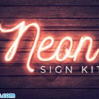 پروژه افتر افکت ابزار تابلوی نئون – Neon Sign Kit v2.1