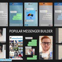 پروژه افتر افکت سازنده صفحه چت مسنجر – Popular Messenger Builder