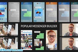 پروژه افتر افکت سازنده صفحه چت مسنجر – Videohive Popular Messenger Builder