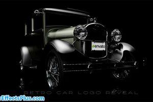 پروژه افتر افکت نمایش لوگو ماشین قدیمی – Retro Car Logo Reveal