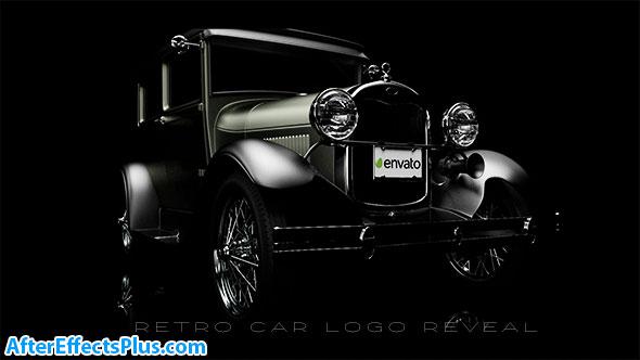 پروژه افتر افکت نمایش لوگو ماشین قدیمی - Retro Car Logo Reveal