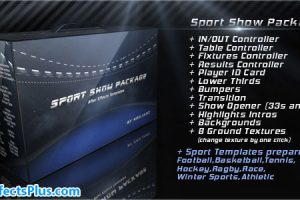 پروژه افتر افکت پکیج نمایش ورزشی – Sport Show Package