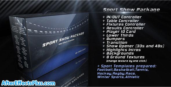 پروژه افتر افکت پکیج نمایش ورزشی - Sport Show Package