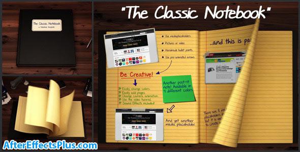پروژه افتر افکت دفتر نوت بوک انیمیشنی - The Classic Notebook