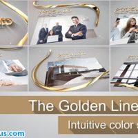 پروژه افتر افکت اسلایدشو با خط طلایی سه بعدی – The Golden Line