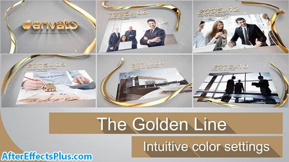 پروژه افتر افکت خط طلایی سه بعدی - The Golden Line