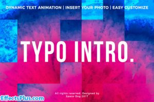 پروژه افتر افکت اینترو تایپوگرافی – Typo Intro