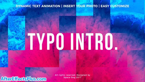 پروژه افتر افکت اینترو اینفوگرافی - Typo Intro