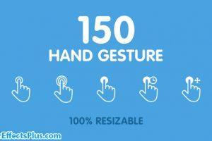 پروژه افتر افکت 150 حرکت دست متحرک – 150 Animated Hand Gestures
