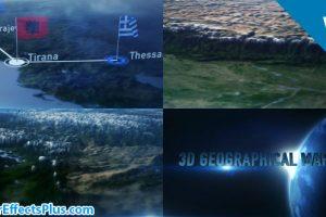 پروژه افتر افکت نقشه جغرافیایی سه بعدی – 3D Geographical Map