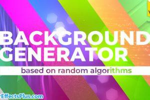 پروژه افتر افکت سازنده بکگراند متحرک – Background Generator