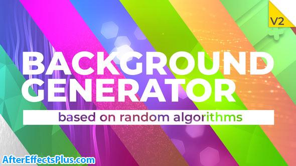 پروژه افتر افکت سازنده بکگراند متحرک - Background Generator