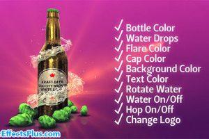 پروژه افتر افکت بطری نوشیدنی شیشه ای – Beer Kit