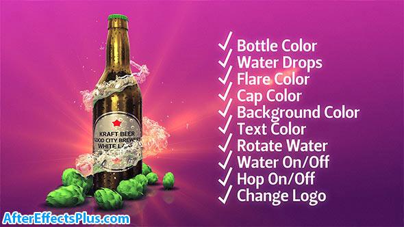 پروژه افتر افکت بطری سه بعدی نوشیدنی - Beer Kit