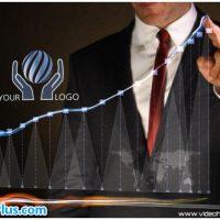 پروژه افتر افکت نمایش لوگو تجاری با نمودار – Business Chart Logo Intro