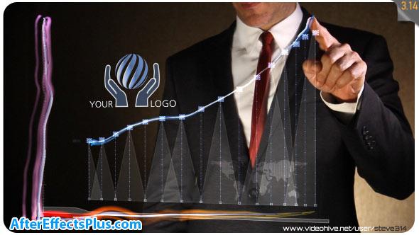 پروژه افتر افکت نمایش لوگو تجاری با نمودار - Business Chart Logo Intro