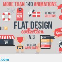پروژه افتر افکت ابزار طراحی فلت و موشن گرافیک – Flat Design v3