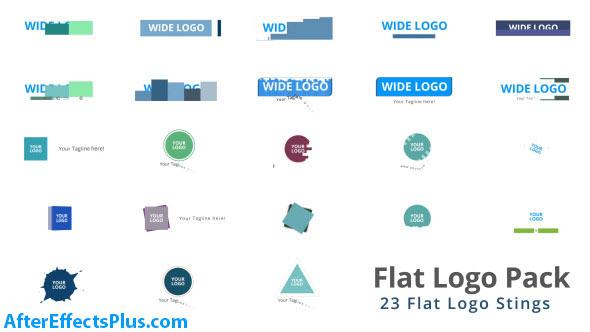 پروژه افتر افکت پکیج لوگو فلت - Flat Logo Pack