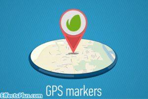 پروژه افتر افکت نشانگر نقشه جی پی اس – GPS Markers Map