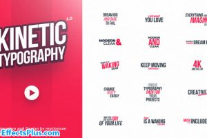 پروژه افتر افکت تایپوگرافی – Kinetic Typography