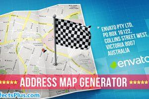 پروژه افتر افکت ساخت آدرس انیمیشنی روی نقشه – Map