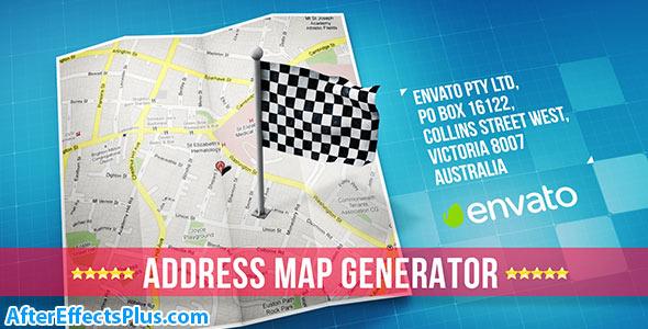 پروژه افتر افکت سازنده آدرس نقشه - Map
