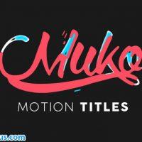 پروژه افتر افکت متن انیمیشنی موشن گرافیک – Motion Titles Animated