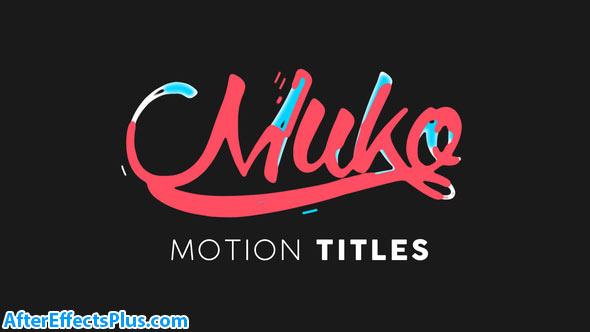 پروژه افتر افکت متن انیمیشنی موشن گرافیک - Motion Titles Animated