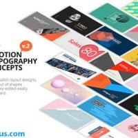 پروژه افتر افکت 100 متن تایپوگرافی موشن – 100 Motion Typography Concepts