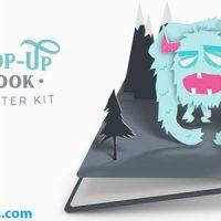 پروژه افتر افکت کتاب سه بعدی پاپ آپ – Pop-Up Book Starter Kit