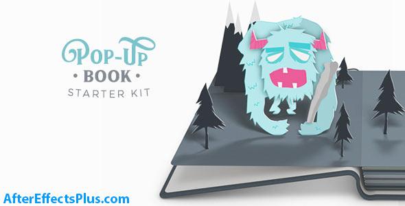 پروژه افتر افکت کتاب سه بعدی پاپ آپ - Pop-Up Book Starter Kit