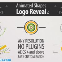 پروژه افتر افکت نمایش لوگو با اشکال انیمیشنی – Shape Animation Logo Reveal v2