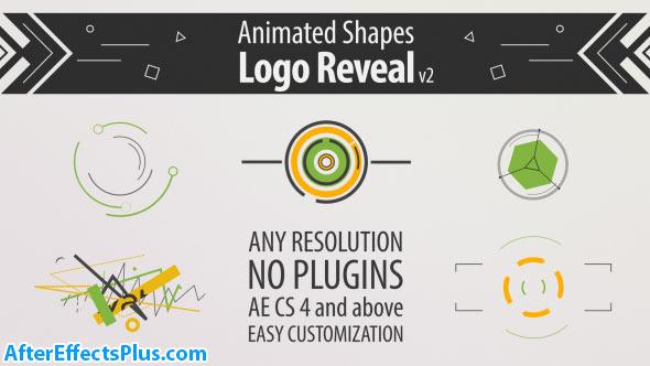 پروژه افتر افکت نمایش لوگو با اشکال انیمیشنی - Shape Animation Logo Reveal v2