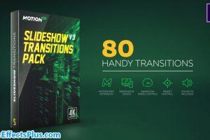 پروژه افتر افکت پکیج ترانزیشن اسلایدشو – Slideshow Transitions Pack v4